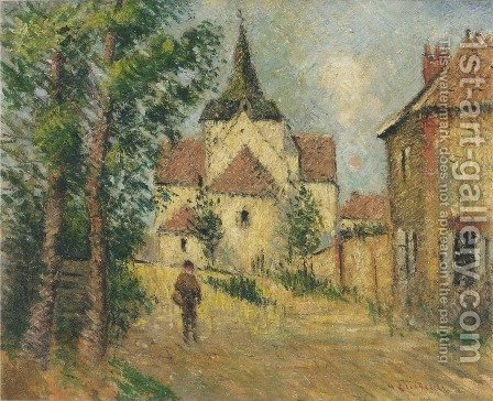 Village street by Gustave Loiseau - Reproduction Oil Painting