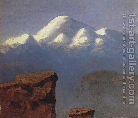 The top of Mount Elbrus in the Sunlight by Arkhip Ivanovich Kuindzhi - Reproduction Oil Painting