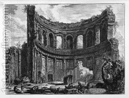 Remains of the Temple of Apollo said in Hadrian's Villa near Tivoli by Giovanni Battista Piranesi - Reproduction Oil Painting