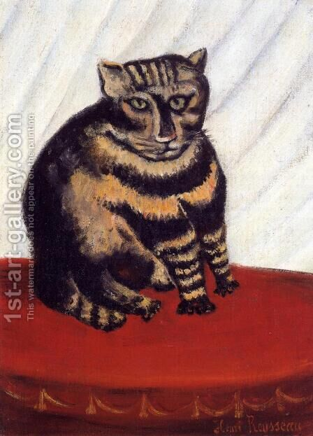 The Tabby by Henri Julien Rousseau - Reproduction Oil Painting
