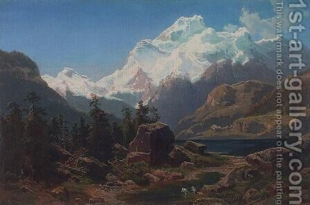 Swiss form by Alexei Kondratyevich Savrasov - Reproduction Oil Painting