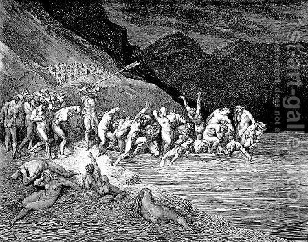 The Embarkation of the Souls by Gustave Dore - Reproduction Oil Painting