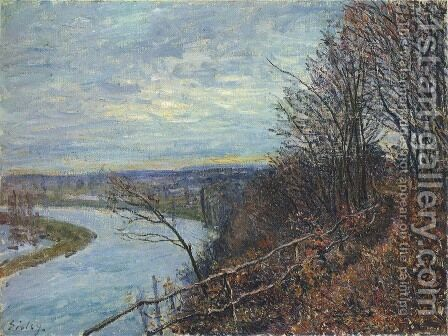 November Afternoon by Alfred Sisley - Reproduction Oil Painting