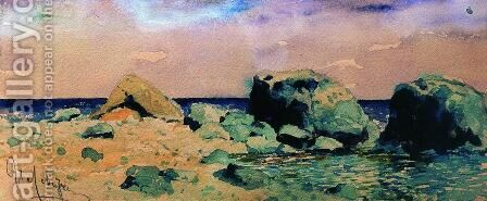 Seashore with sea view by Isaak Ilyich Levitan - Reproduction Oil Painting