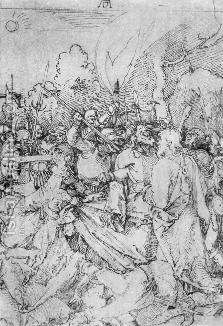 Arrest of Christ 2 by Albrecht Durer - Reproduction Oil Painting