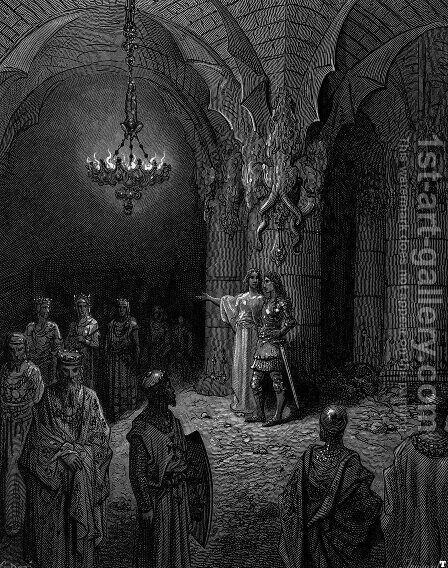 Orlando Furioso 3 by Gustave Dore - Reproduction Oil Painting