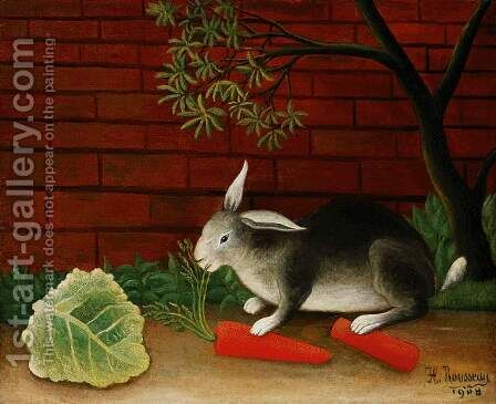 Rabbit by Henri Julien Rousseau - Reproduction Oil Painting
