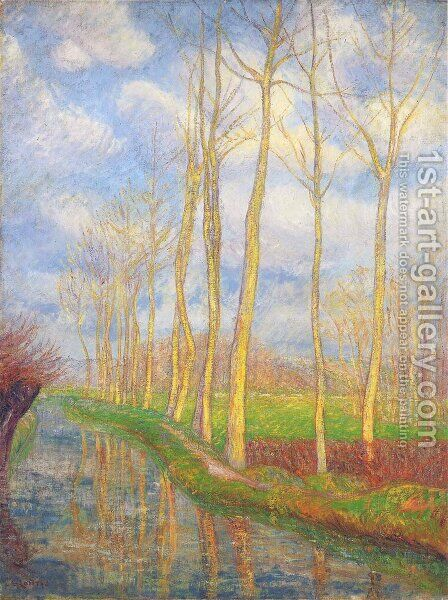 Poplars by Gustave Loiseau - Reproduction Oil Painting
