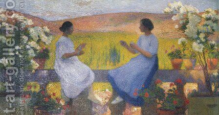 The Weaving Women by Henri Martin - Reproduction Oil Painting