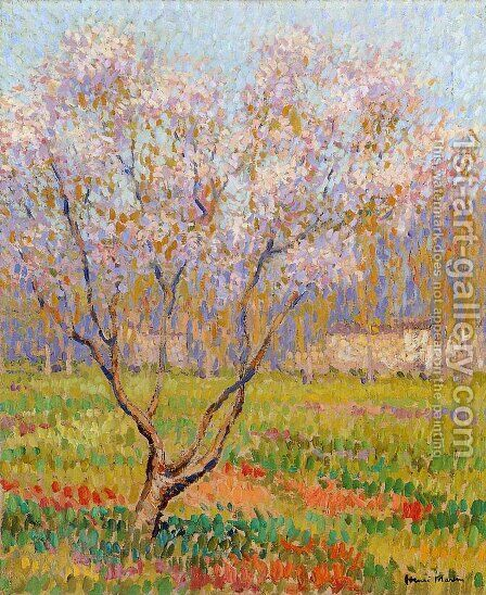 Trees in Bloom by Henri Martin - Reproduction Oil Painting
