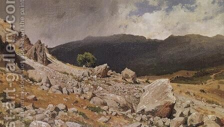 From the vicinity of Gurzuf by Ivan Shishkin - Reproduction Oil Painting