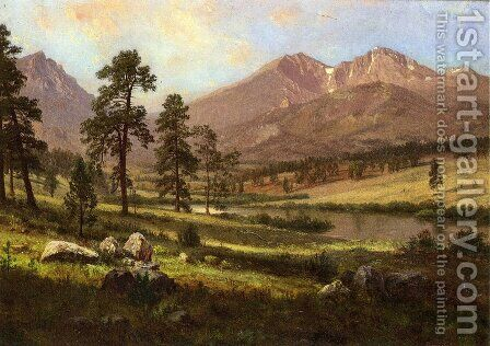 Long's Peak, Estes Park, Colorado 2 by Albert Bierstadt - Reproduction Oil Painting