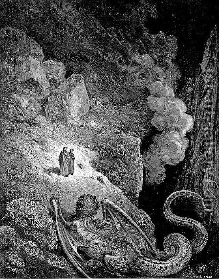 Geryon--Symbol of Deceit by Gustave Dore - Reproduction Oil Painting