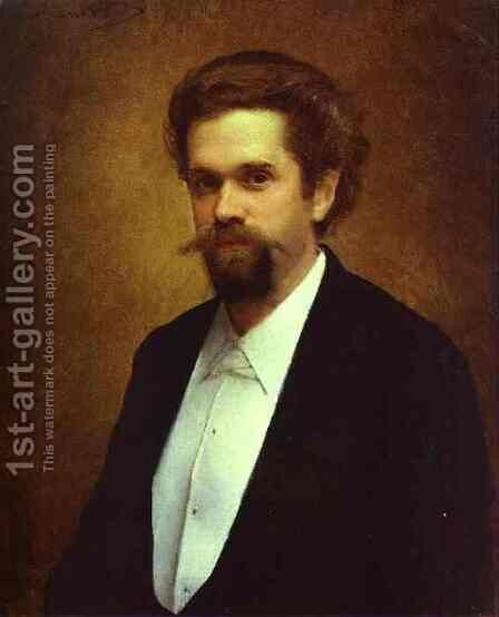 Portrait of the Cellist S Morozov by Ivan Nikolaevich Kramskoy - Reproduction Oil Painting