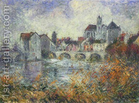 Moret on Loing Autumn by Gustave Loiseau - Reproduction Oil Painting