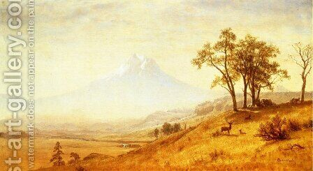 Mount Hood by Albert Bierstadt - Reproduction Oil Painting