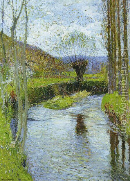 River Vert in Spring by Henri Martin - Reproduction Oil Painting