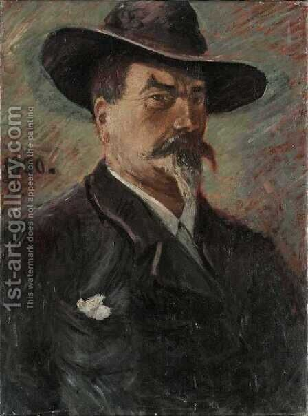 Self-Portrait by Carl-Edvard Diriks - Reproduction Oil Painting
