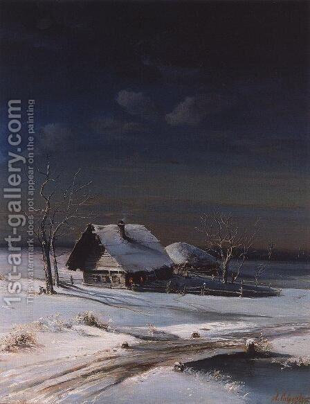 Winter Landscape 3 by Alexei Kondratyevich Savrasov - Reproduction Oil Painting