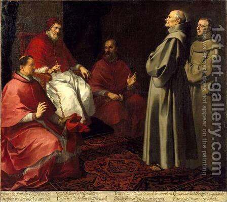 The Blessed Giles Levitating before Pope Gregory IX by Bartolome Esteban Murillo - Reproduction Oil Painting