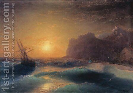 Seascape. Koktebel. by Ivan Konstantinovich Aivazovsky - Reproduction Oil Painting