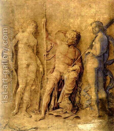 Three deities by Andrea Mantegna - Reproduction Oil Painting