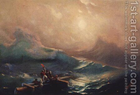 The Ninth Wave. Study by Ivan Konstantinovich Aivazovsky - Reproduction Oil Painting