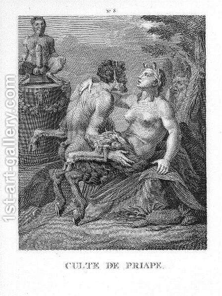 Religion of Priapus by Agostino Carracci - Reproduction Oil Painting