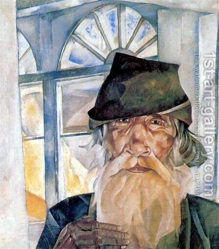 An Old Man from Olonets by Boris Dmitrievich Grigoriev - Reproduction Oil Painting