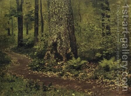 Footpath in a Forest. Ferns. by Isaak Ilyich Levitan - Reproduction Oil Painting