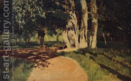 In the park by Isaak Ilyich Levitan - Reproduction Oil Painting