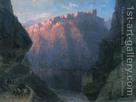 Darial Gorge by Ivan Konstantinovich Aivazovsky - Reproduction Oil Painting