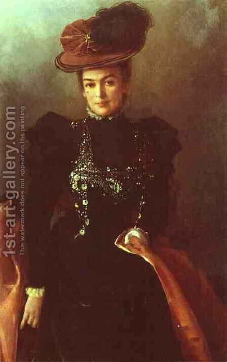 Portrait of an Unknown Woman 2 by Ivan Nikolaevich Kramskoy - Reproduction Oil Painting