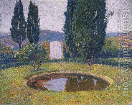Fountain in Marquayrol by Henri Martin - Reproduction Oil Painting