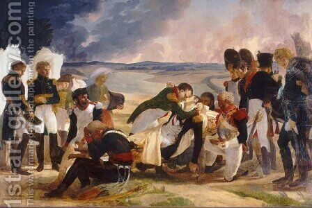Death of Marshal Lannes, Duke of Montebello by Baron Pierre-Narcisse Guerin - Reproduction Oil Painting