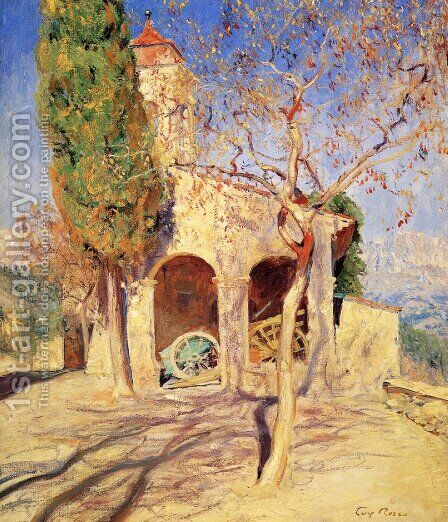 The Old Church at Cagnes by Guy Rose - Reproduction Oil Painting