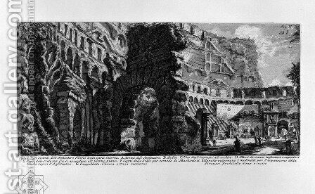 The Roman antiquities, t. 1, Plate XXXVIII by Giovanni Battista Piranesi - Reproduction Oil Painting