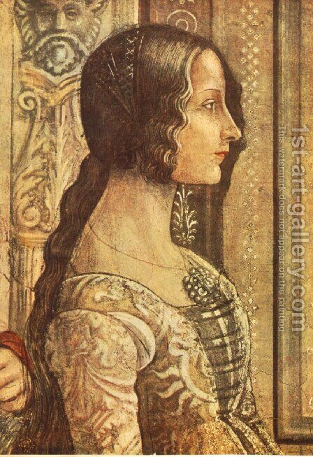 Ludovica Tornabuoni by Domenico Ghirlandaio - Reproduction Oil Painting