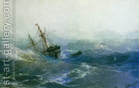 The Shipwreck 11 by Ivan Konstantinovich Aivazovsky - Reproduction Oil Painting