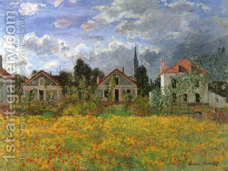 Houses at Argenteuil by Claude Oscar Monet - Reproduction Oil Painting