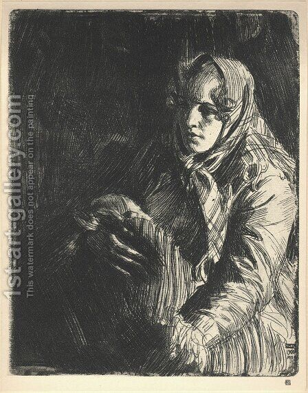 A Swedish Madonna by Anders Zorn - Reproduction Oil Painting