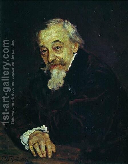 Portrait of Artist Vladimir Samoilov by Ilya Efimovich Efimovich Repin - Reproduction Oil Painting