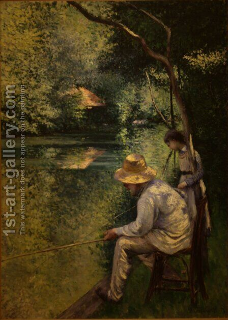 Angling by Gustave Caillebotte - Reproduction Oil Painting