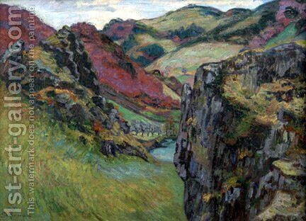 Landscape near Saint-Julien-des-Chazes by Armand Guillaumin - Reproduction Oil Painting