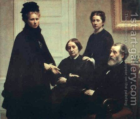 The Dubourg Family by Ignace Henri Jean Fantin-Latour - Reproduction Oil Painting