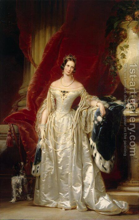 Portrait of Empress Alexandra Fedorovna 2 by Christina Robertson - Reproduction Oil Painting