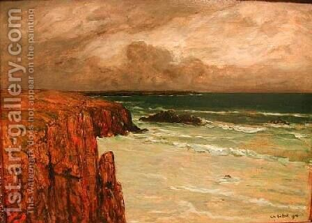 Sea Landscape in Brittany by Charles Cottet - Reproduction Oil Painting