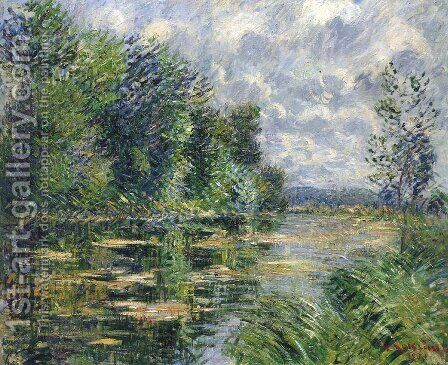 Small Arm of the Seine Near Connelle by Gustave Loiseau - Reproduction Oil Painting