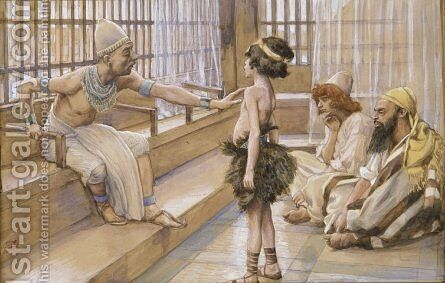 Joseph Sold Into Egypt by James Jacques Joseph Tissot - Reproduction Oil Painting