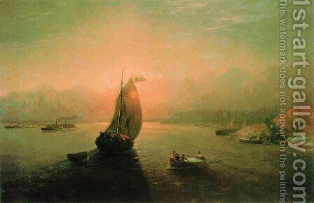 Volga by Ivan Konstantinovich Aivazovsky - Reproduction Oil Painting